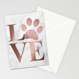 Love is a Four Letter Word - Rose Gold and Marble Stationery Cards