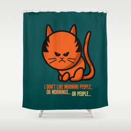 Moody cat Shower Curtain
