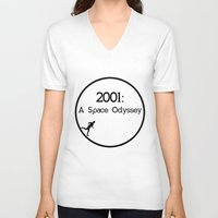 2001 a space odyssey V-neck T-shirts featuring 2001: A Space Odyssey by artsch.
