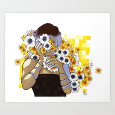 Sleep Under the Petals Art Print