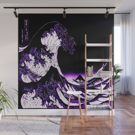 The Great Wave : Purple Wall Mural