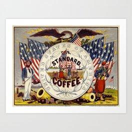 Vintage poster - Standard Coffee Art Print