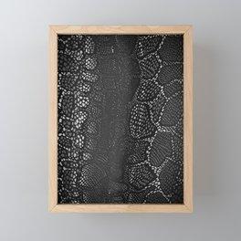 Black Snake Skin Framed Mini Art Print