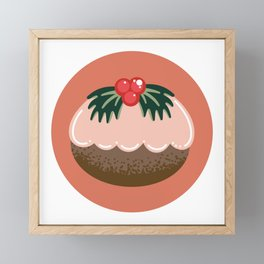 Get Figgy With It Coral Framed Mini Art Print
