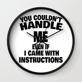 woman instruction man single sarcasm joke gift Wall Clock