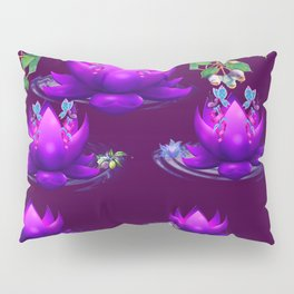 Purple Lotus Pillow Sham