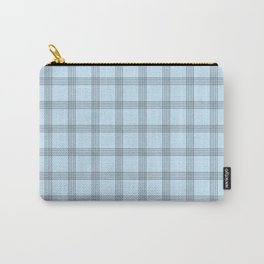 Black Grid on Pale Blue Carry-All Pouch