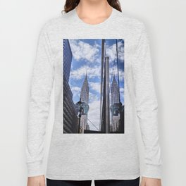 Chrysler Building Reflections in Midtown Long Sleeve T-shirt