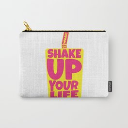 """""""Shake Up Your Life: Go Vegan"""" from VegaFTW™ (Strawberry Banana) Carry-All Pouch"""