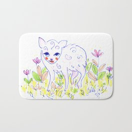 Curly Baby Deer Bath Mat