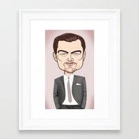 leonardo dicaprio Framed Art Prints featuring Leonardo DiCaprio by drawgood