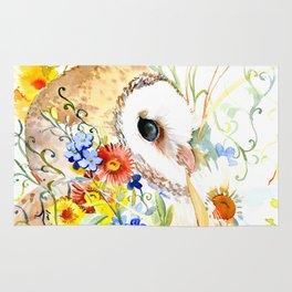 Floral Owl Rug