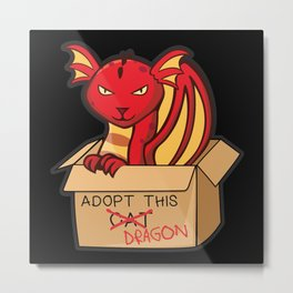 Adopt This Dragon Fire Metal Print