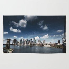 nyc skyline panoramic view Rug