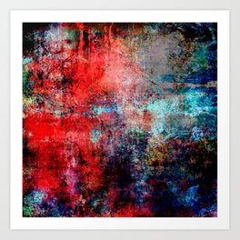 Modern  Red Abstract Design Art Print