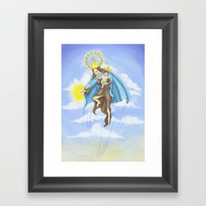 Superheroes SF Framed Art Print