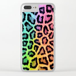 Bright leopard Clear iPhone Case