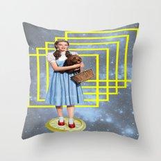 Yellow brick road Throw Pillow