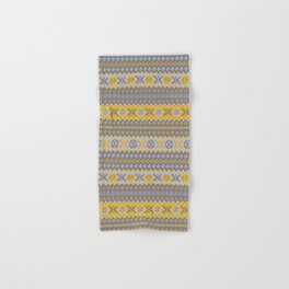 Granny's Fairisle - Honey Yellow Hand & Bath Towel