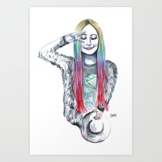 She turns 18 Art Print