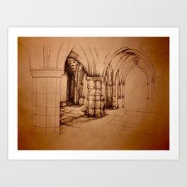 Broken Archway Art Print