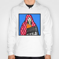 lichtenstein Hoodies featuring Röyksopp Forever Roy Lichtenstein Inspired Portrait 2 by Alli Vanes
