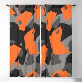 Black\Grey\Orange Geometric camo Blackout Curtain