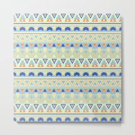 Ethnic , tribal , pastel Metal Print