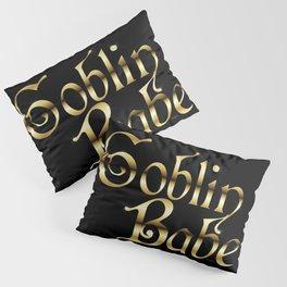Labyrinth Goblin Babe (black bg) Pillow Sham
