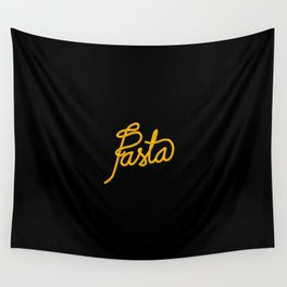 Pasta   [black & yellow] Wall Tapestry
