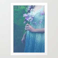 In Her Dreams She Roamed Wild and Free Art Print
