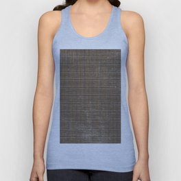 Vintage chic abstract brown lilac black geometric plaid Unisex Tank Top