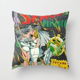 Space Romance Throw Pillow