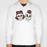 rockabilly Hoodies featuring Spooky Rockabilly Skulls. by Sparganum