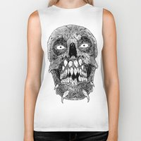 teeth Biker Tanks featuring Teeth by PCRK