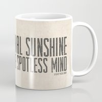 eternal sunshine Mugs featuring Eternal Sunshine of the Spotless Mind - Alternative Movie Poster by Anthony DeCarolis