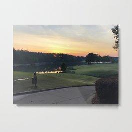 Golfing the Lake Metal Print