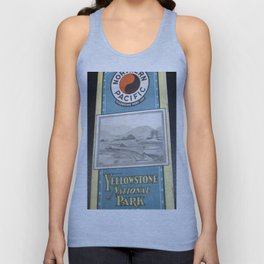 Yellowstone Northern Pacific Rail Time Table Unisex Tank Top