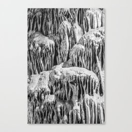 No Snow! But Structures In Dripstone Cave. Canvas Print