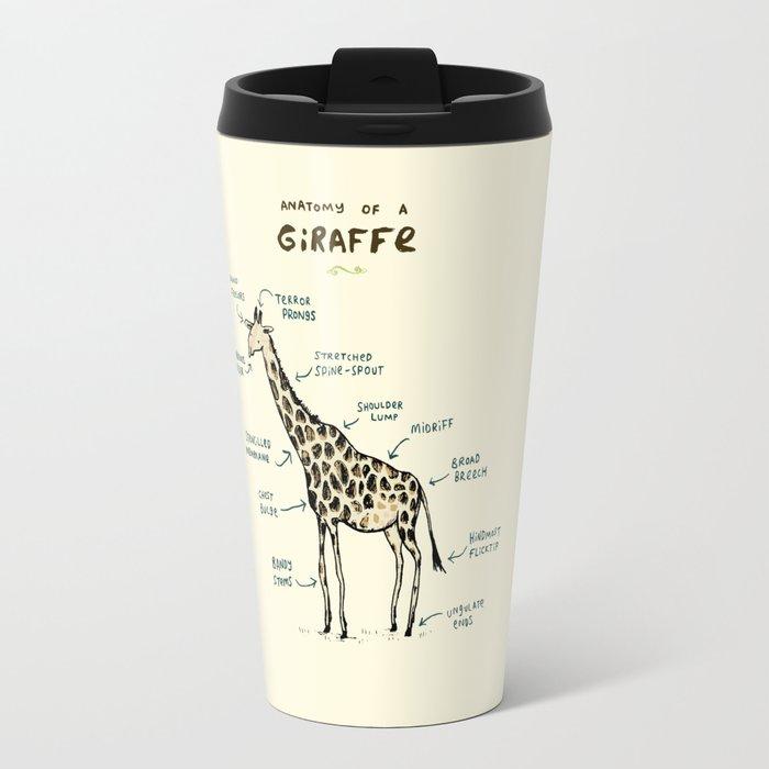 Anatomy of a Giraffe Travel Mug by sophiecorrigan | Society6