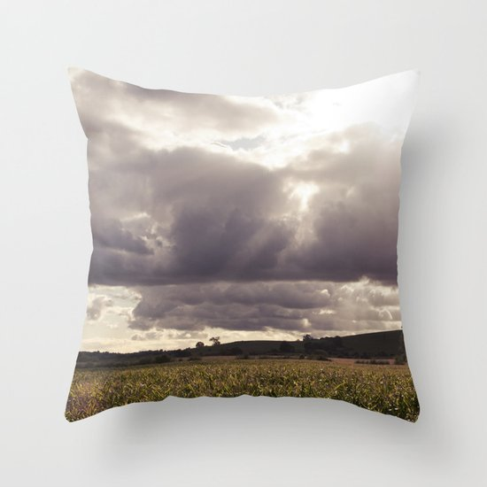 shine forth upon our clouded hills... Throw Pillow