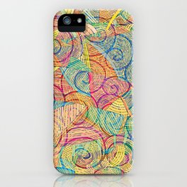 Colorful pattern (a little geometry) iPhone Case