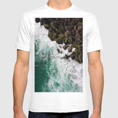 Sea and Rocks MEDIUM Mens Fitted Tee White