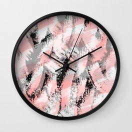 Abstract pink/black Wall Clock