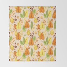 Fall together Throw Blanket