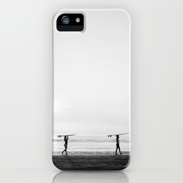Surfer couple | Wanderlust photography of surfer couple | Coastal wall art. iPhone Case