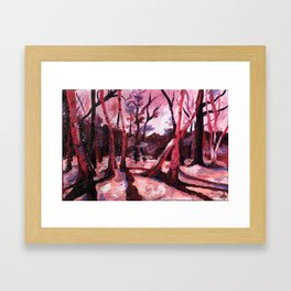 Through the Trees (colorized) Framed Art Print