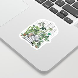 greenhouse illustration Sticker