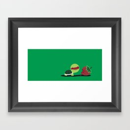 Strawberry Turtle Framed Art Print