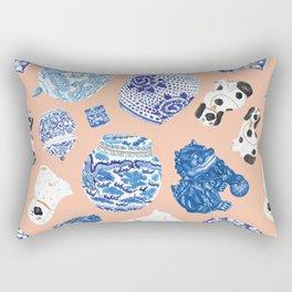Chinoiserie Curiosity Cabinet Toss 1 Rectangular Pillow
